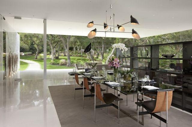 Gestaltung Ideen Esszimmer Offen Kronleuchter Designer Stühle Modern