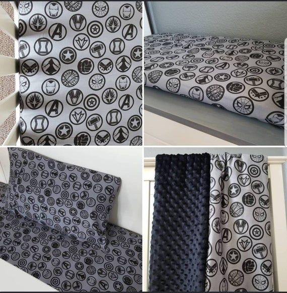 Best Marvel Avenger Superhero Crib Toddler Bed Fitted Sheet 640 x 480
