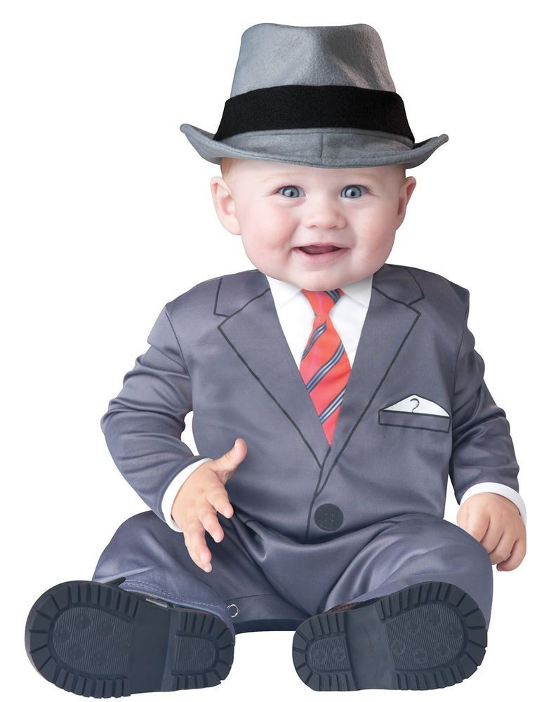 a7ed83c6824f Baby Business Mobster Infant Gangster Baby Boy Costume S-L (6 months ...