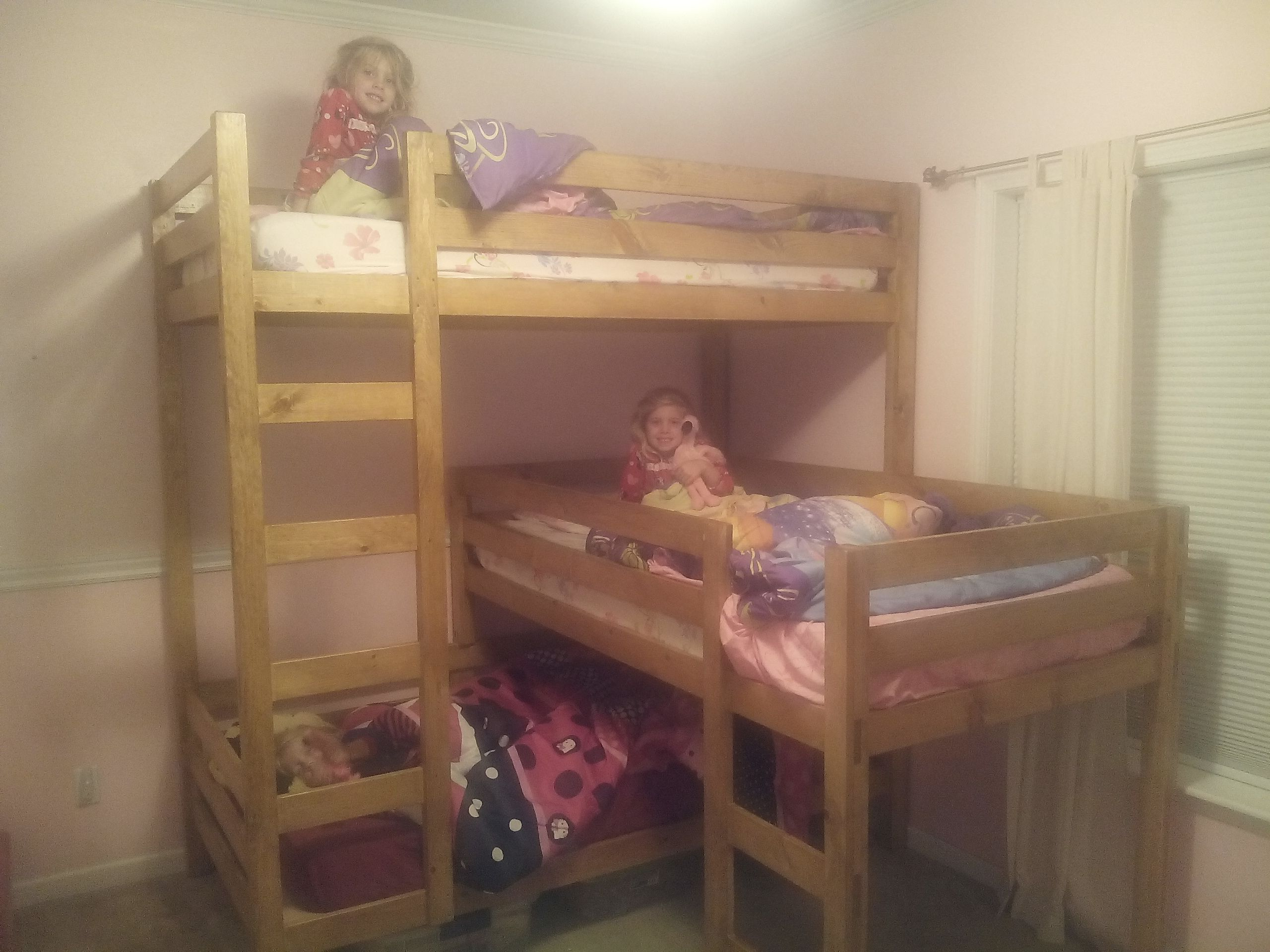 Triple Bunk Bed Do It Yourself Home Projects from Ana