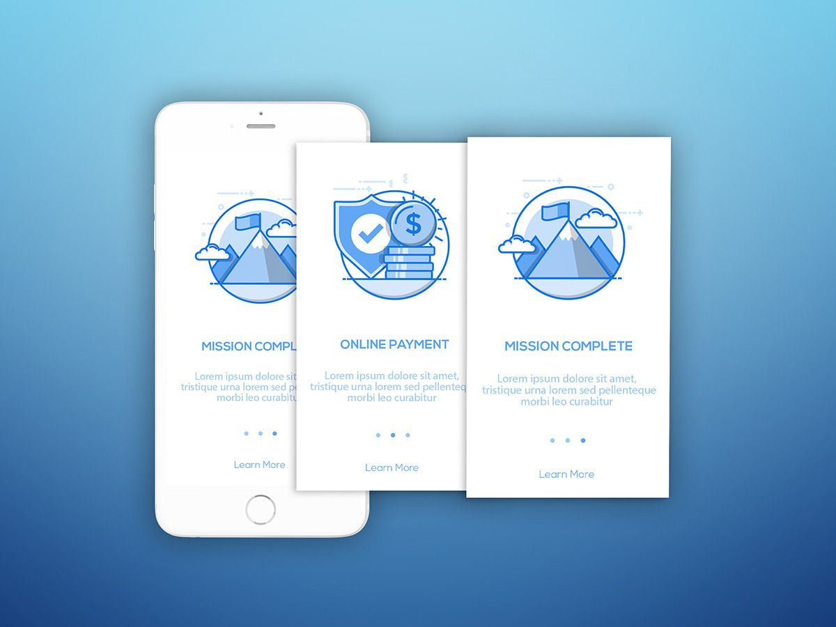 Mobile App Character Design : Onboarding users screen mobile ui ux inspiration