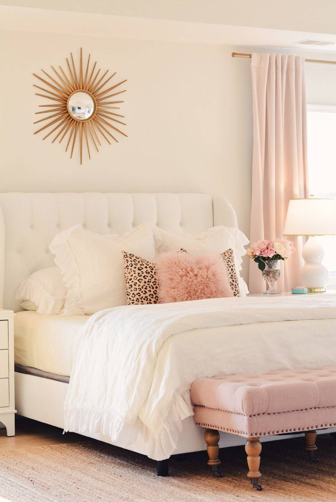 Bedroom Decor Ideas A Romantic Master Bedroom Makeover The Pink Dream Apartment Bedroom Decor Bedroom Decorating Tips Bedroom Decor Home bedroom makeover diy upholstered