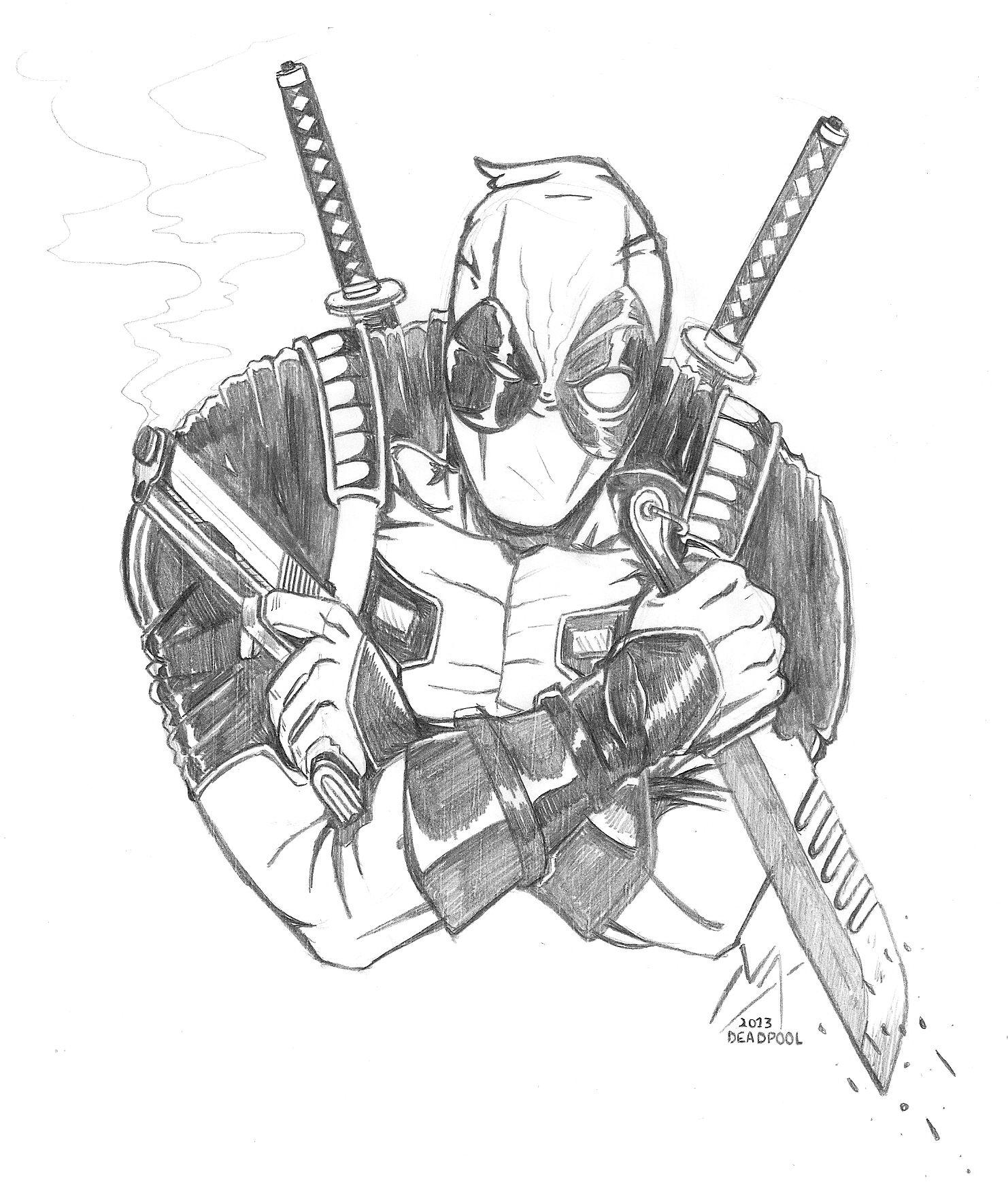 Hermosa Deadpool Para Colorear Para Niños Foto - Dibujos Para ...
