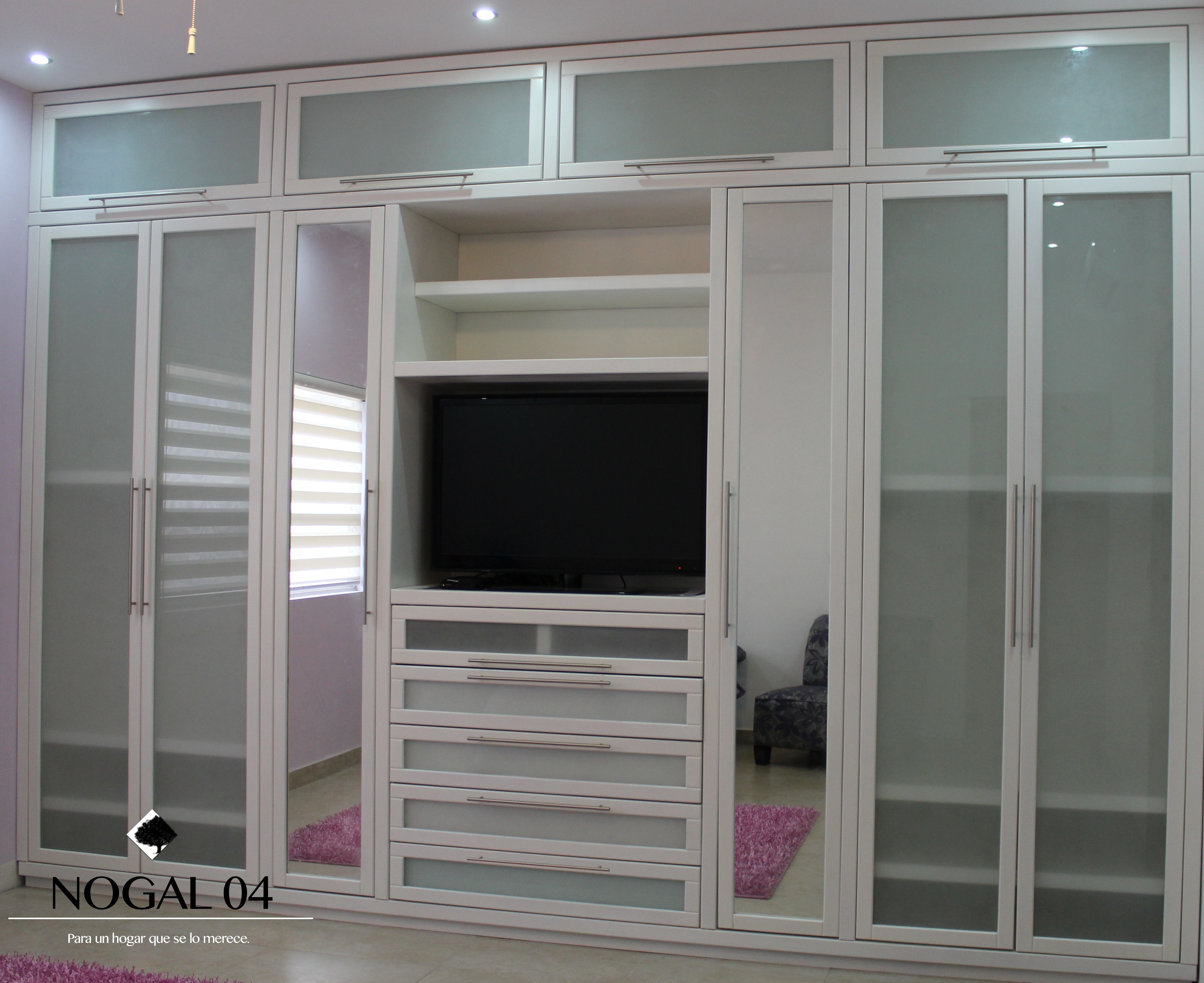 closet contempor neo en color blanco nogal04 muebles