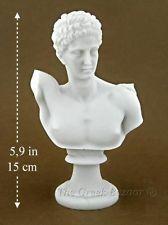 Hermes God Greek Bust Sculpture Alabaster Marble Statue Home Decor Made Greece