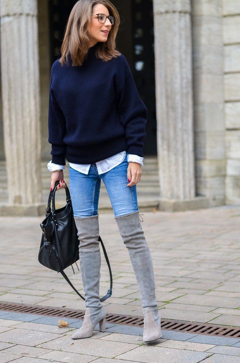 overknee boots x blue jeans blue jeans overknees und jeans. Black Bedroom Furniture Sets. Home Design Ideas