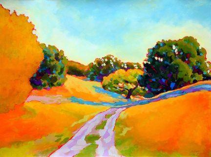 Karen Lynn Ingalls Field Station Road Art Watercolor Art