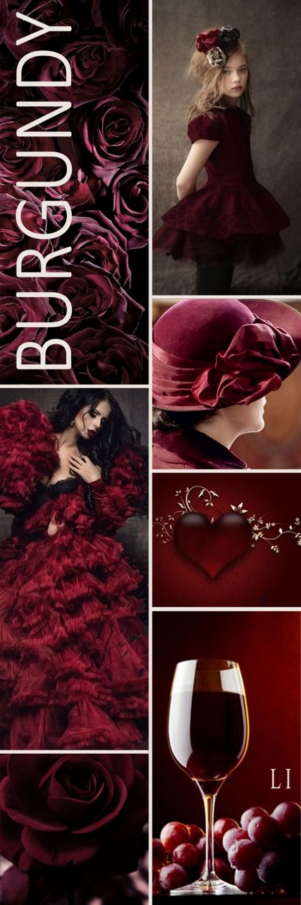 Lu S Inspiration Burgundy With Images Color Collage Pantone Color Color