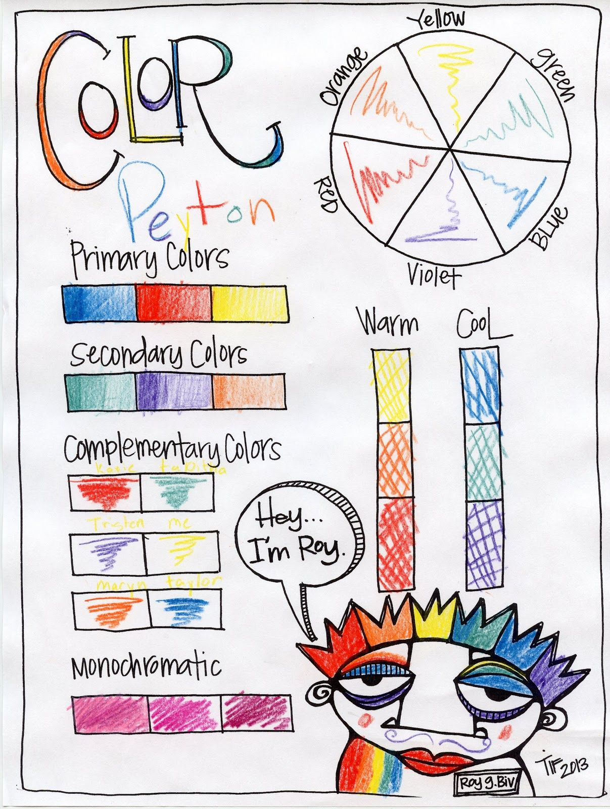 Color wheel worksheets for elementary - Before Class I Assigned The Girls A Color To Wear So They Could Sit At The Table In The Color Wheel So P Color Theory Lesson