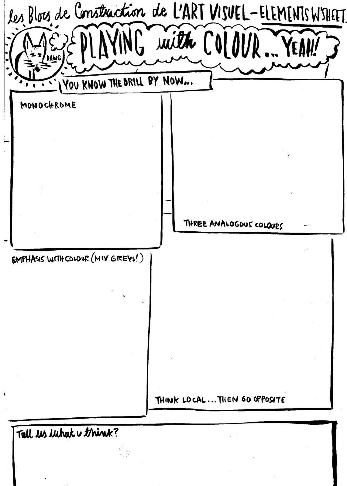 worksheet Color Theory Worksheets dan haycocks blog unbatondecolle lookowwwwwt worksheet playing with elements worksheets