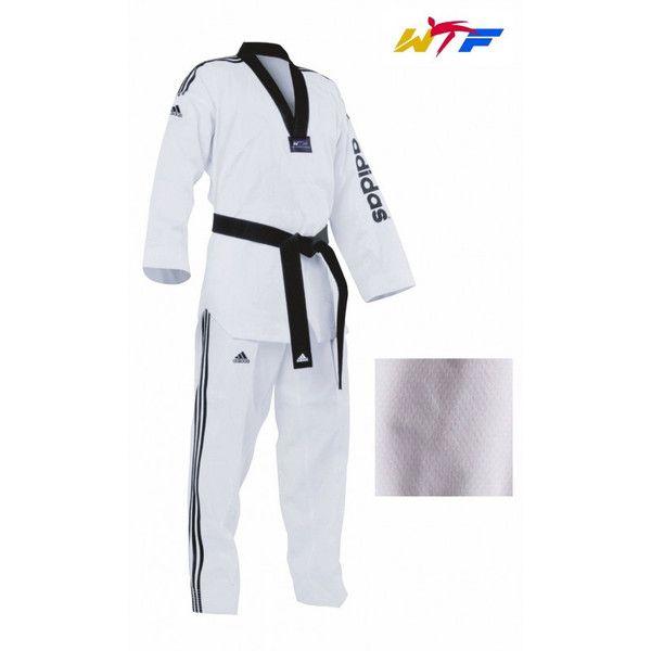 Adidas Wtf Dobok Palo Traje Taekwondo Gi Adulto Niño Blanco Y Negro Other Combat Sport Supplies Sporting Goods