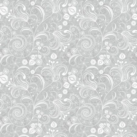 Seamless Gray Floral Pattern Stock Vector Aff Floral Gray Seamless Vector Ad In 2020 Vintage Floral Pattern Background Patterns Floral Background
