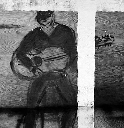 Ansel Adams Fence Paintings, December, 1966 Gelatin silver film negative Sweeney/Rubin Ansel Adams Fiat Lux Collection
