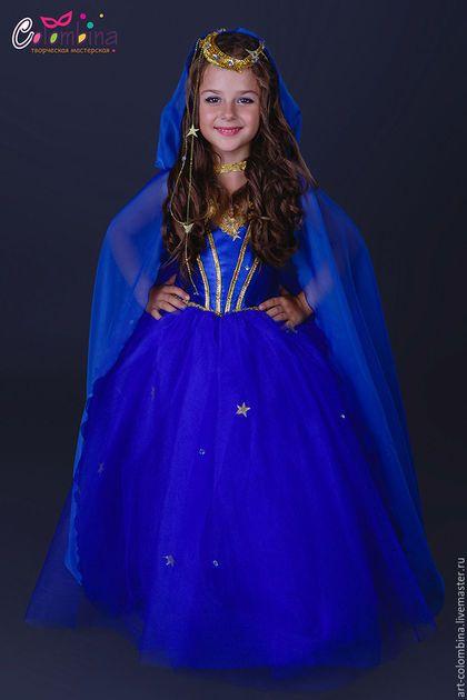 Купить или заказать Костюм ночь в интернет-магазине на Ярмарке Мастеров. Карнавальный костюм Ночь для девочки комплектация: платье, накидка с капюшоном, диадема 134-146+500…