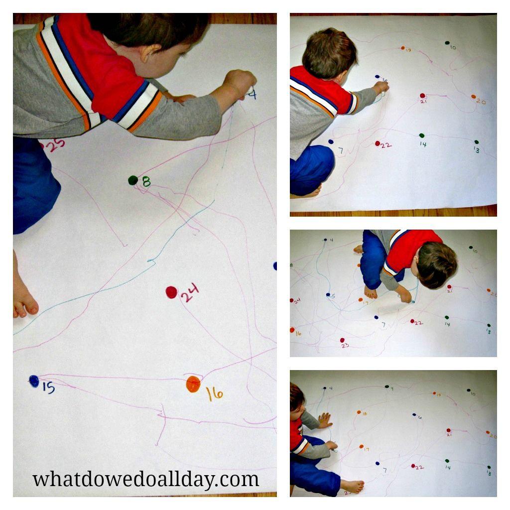Motor Skills Activity Giant Dot To Dot Motor Skills Activities Skills Activities Preschool Fine Motor