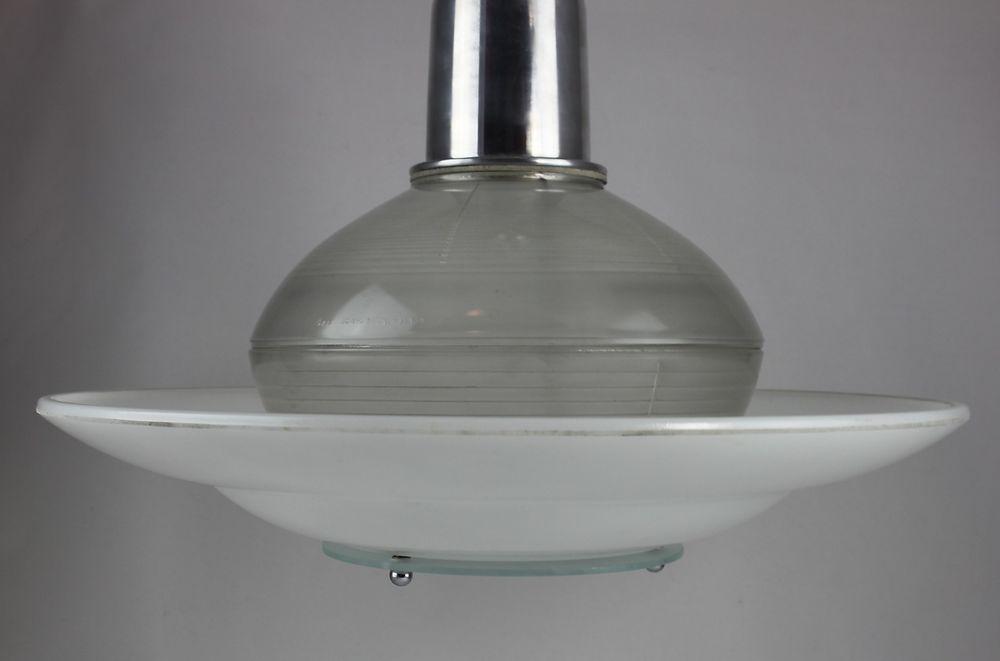 Details zu seltene alte holophane original art deco lampe xxl