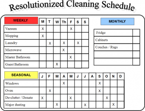 Resolutionize: Develop a Cleaning Schedule