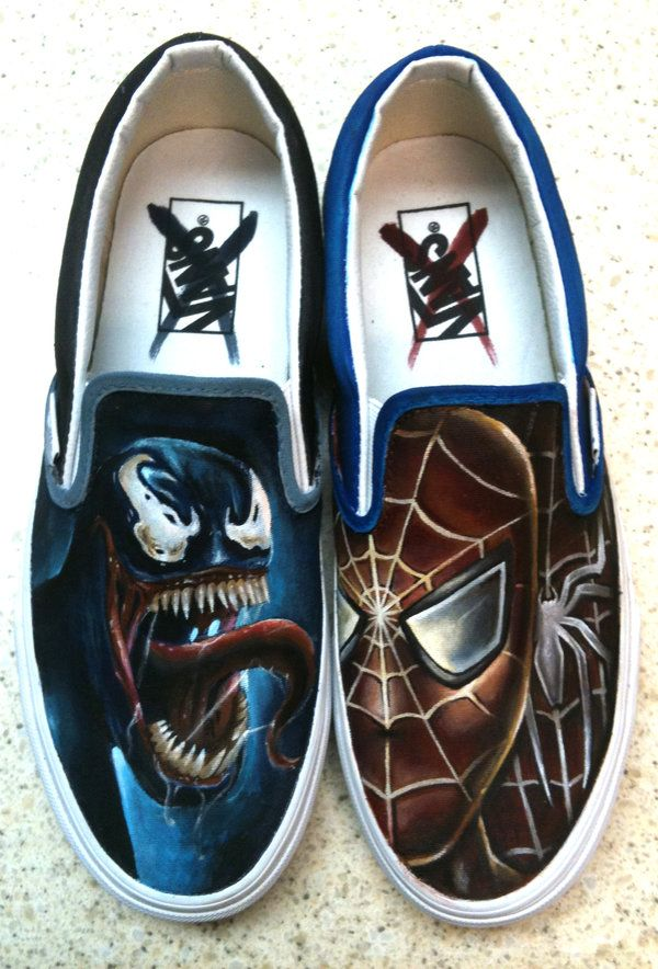 f46b6a522db7 Venom Spiderman Shoes... I would pay bank for these...