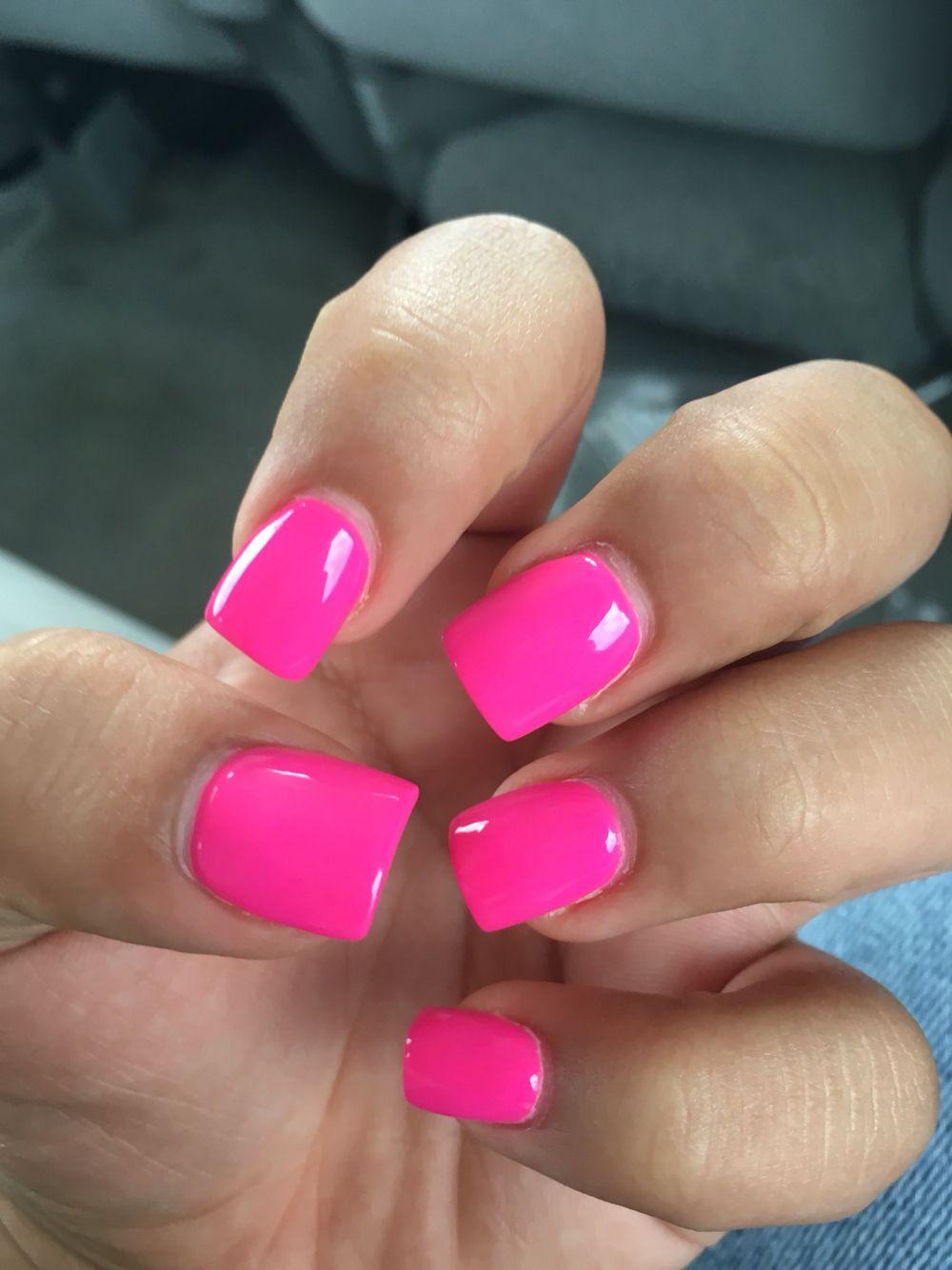 Hot Pink Nails Pink Nails Pink Toe Nails Hot Pink Nails