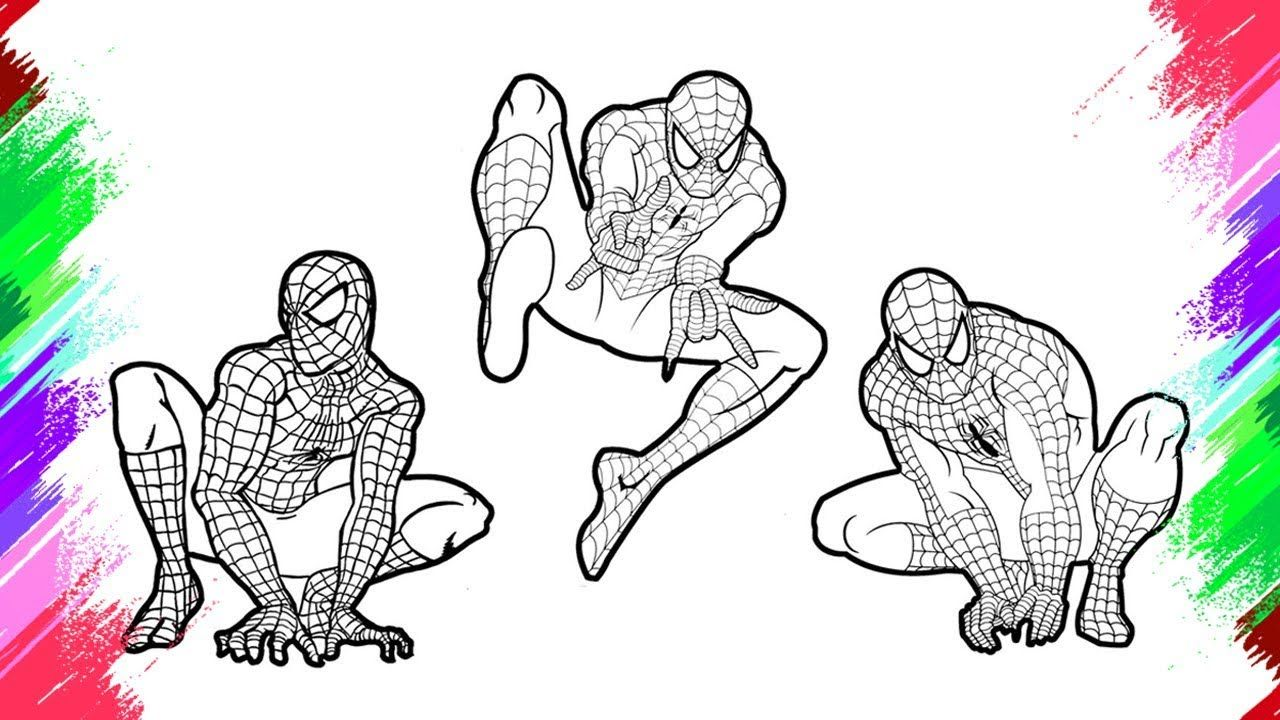 Spiderman Coloring Pages Colouring Pages For Kids With Colored Markers Https Www Youtube Com Wat Spiderman Coloring Coloring Pages For Kids Coloring Pages