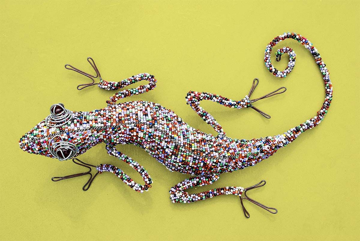 Animal Lizard, interior and wall art from South Africa | Art ...