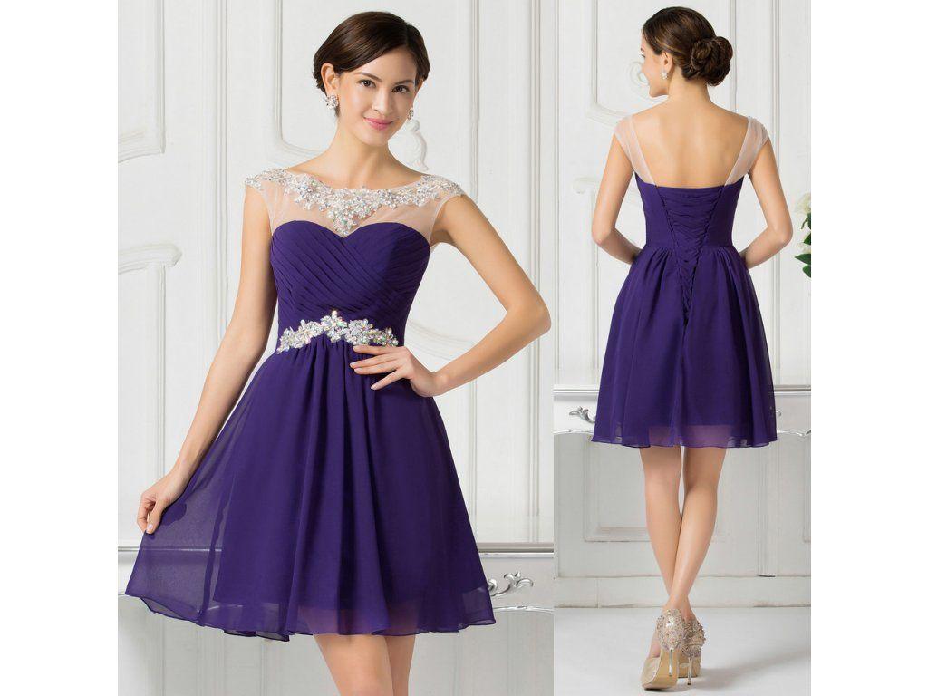 87e5aa498cbb FIALOVÉ koktejlové šaty