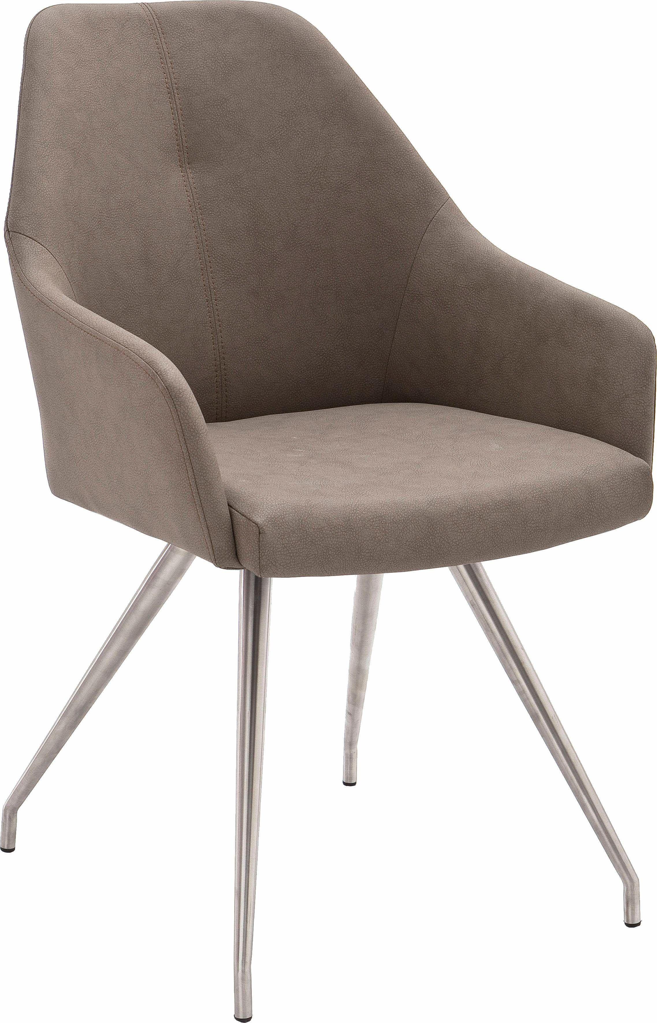 Stühle 2 Stück braun 4 Fuß Stuhl oval pflegeleichtes Kunstleder yourhome Jetzt bestellen unter