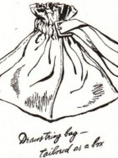 1940s Wartime Square Drawstring Handbag Sewing Pattern 1930s And