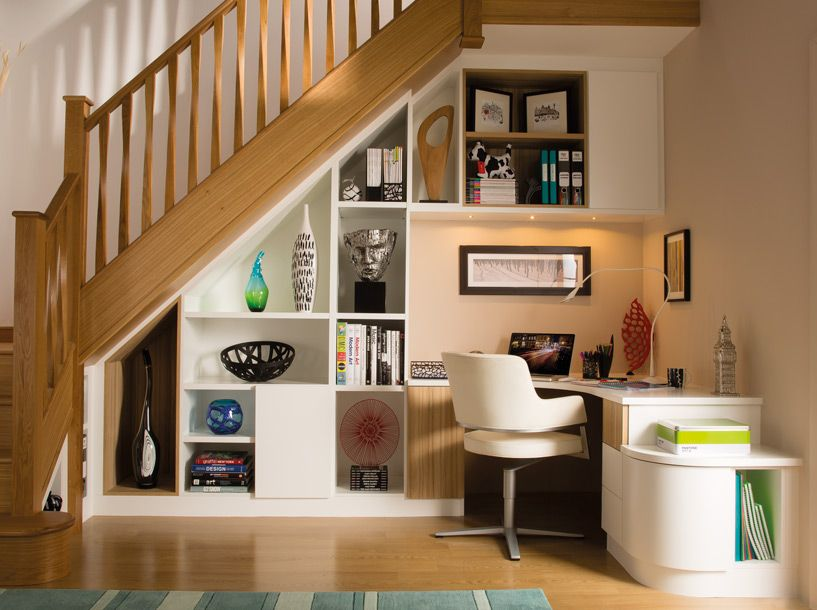 Under Stairs Office stylish understairs study – home study furniture – neville johnson