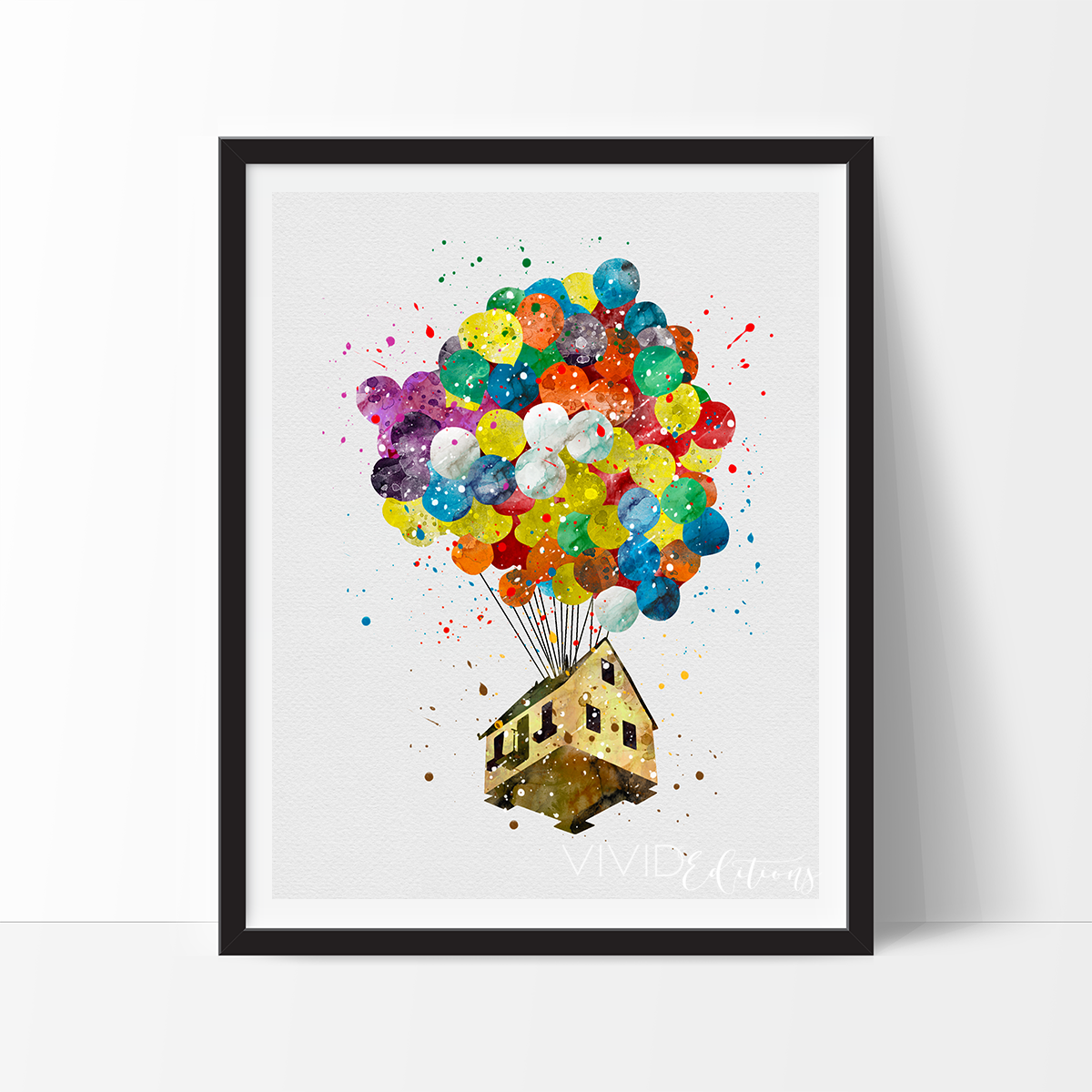Up Balloon House Watercolor Art Print In 2021 Watercolor Art Prints Art Prints Watercolor Disney