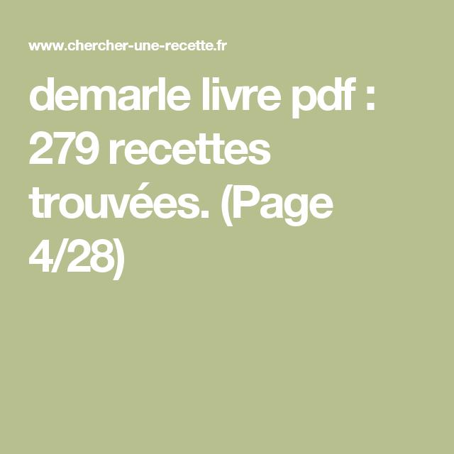 Demarle Livre Pdf 279 Recettes Trouvees Page 4 28