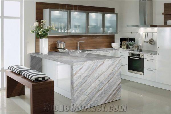 quartzite himalaya kitchen countertop, white quartzite kitchen