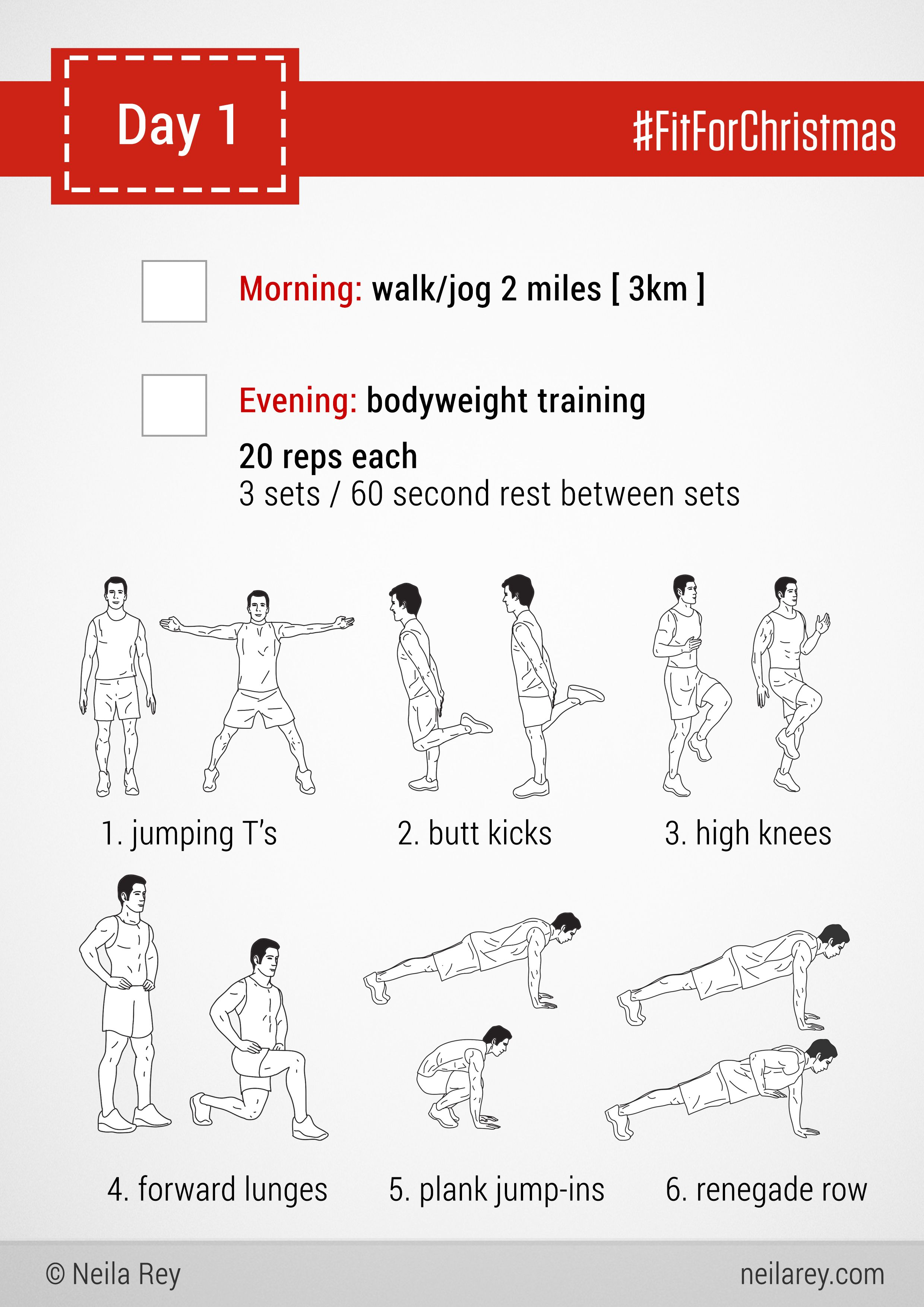 Neila Rey Printable Workout Cards