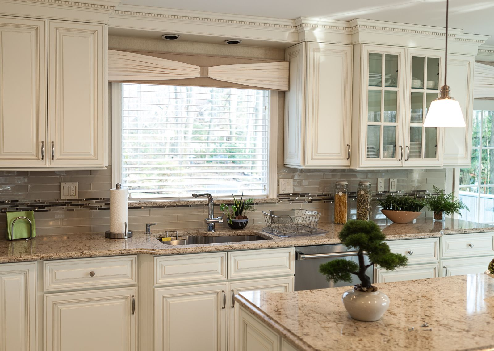 This remodel featured Shiloh Cabinetry with Cambria