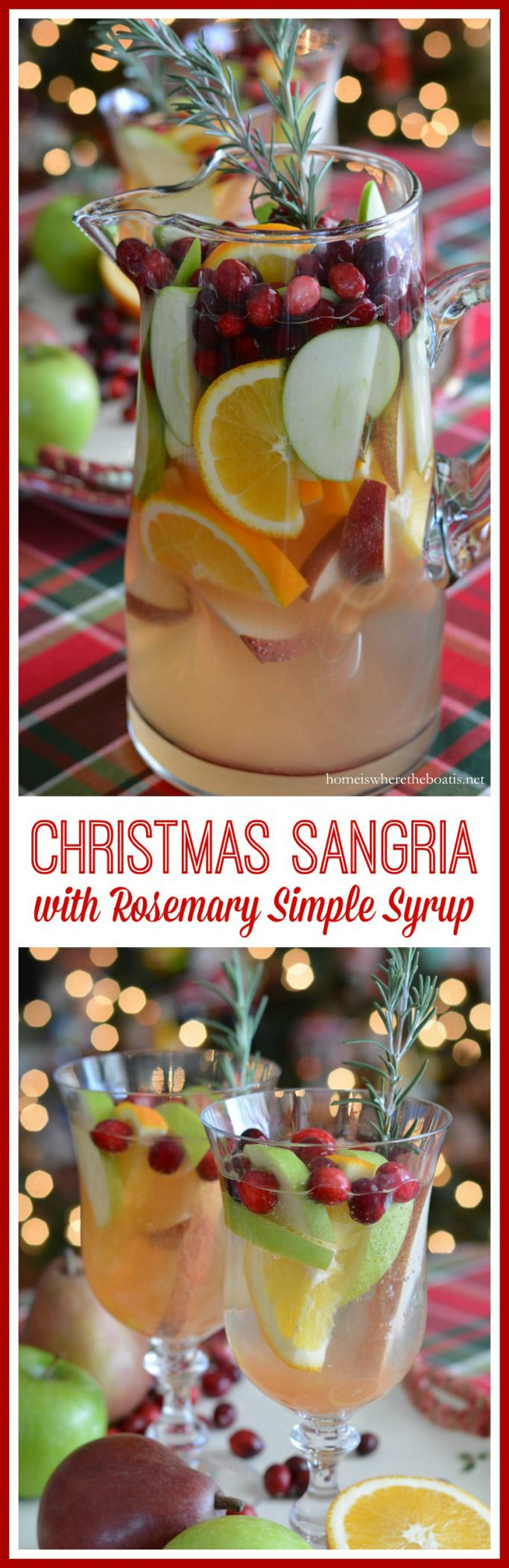 Making Spirits Bright: Christmas Sangria with Rosemary Simple Syrup ...