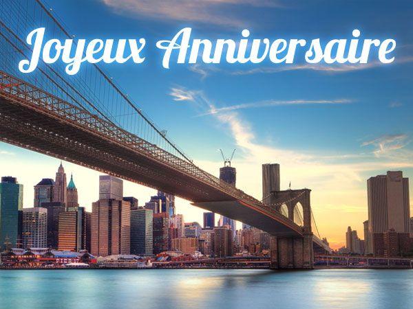 envoyez une jolie carte d 39 anniversaire du pont de brooklyn new york. Black Bedroom Furniture Sets. Home Design Ideas