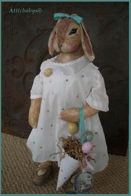 Polka dot Bunny by Atticbabys