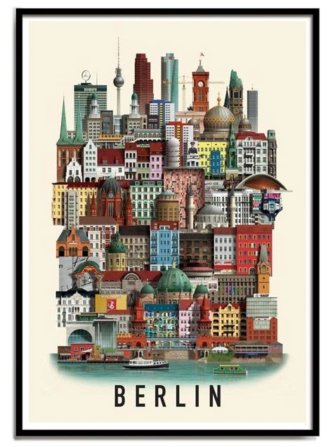 berlin poster mini a3 s ddeutsches design pinterest. Black Bedroom Furniture Sets. Home Design Ideas