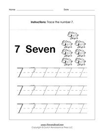 number 7 worksheets | Math Printables | Printable preschool ...