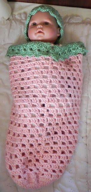 JamieLee Designs: Berry Sweet Cocoon with Hat   Crochet   Pinterest
