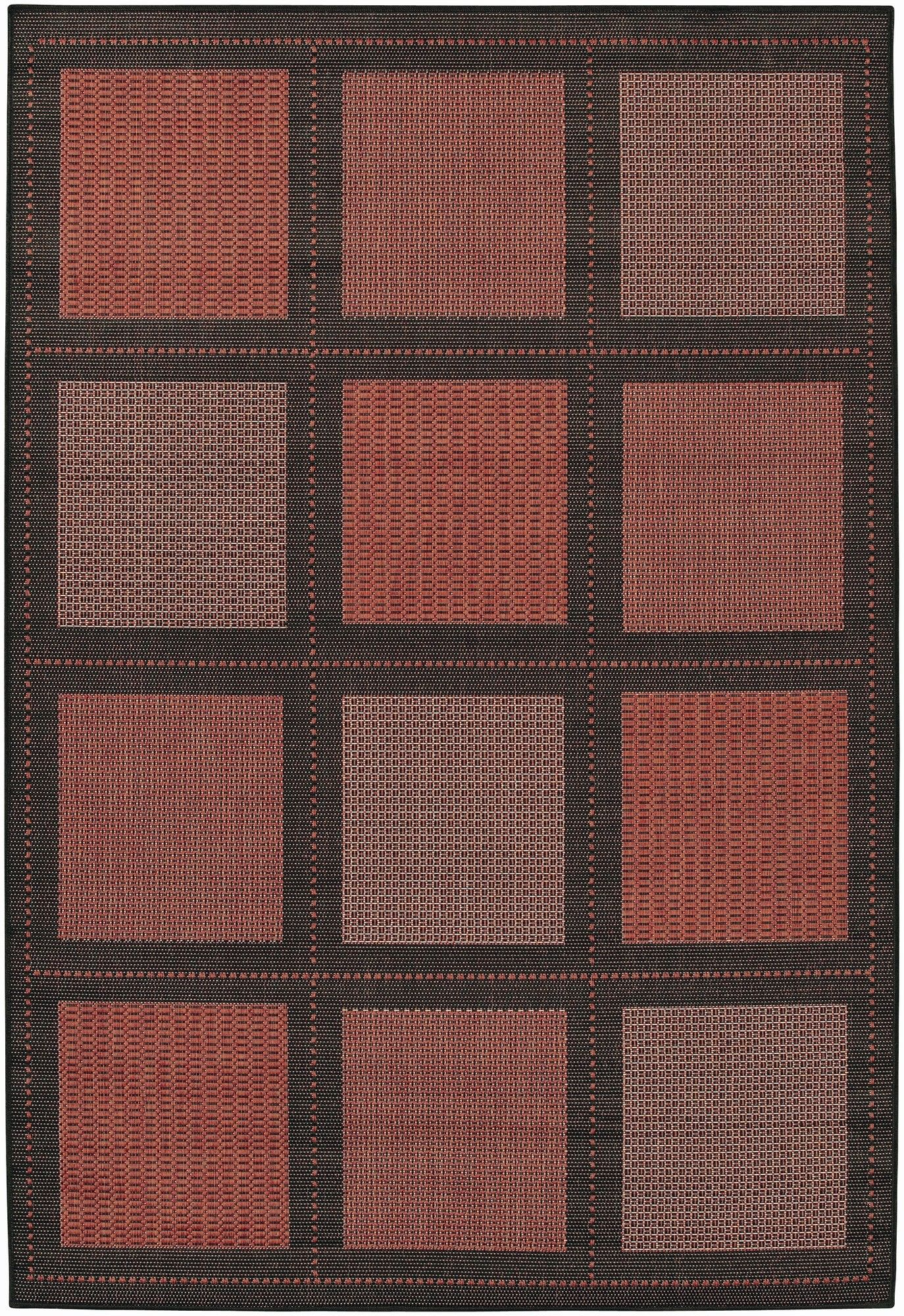 Couristan Recife Summit Terra Cotta Black Indoor Outdoor Area Rug Reviews Wayfair