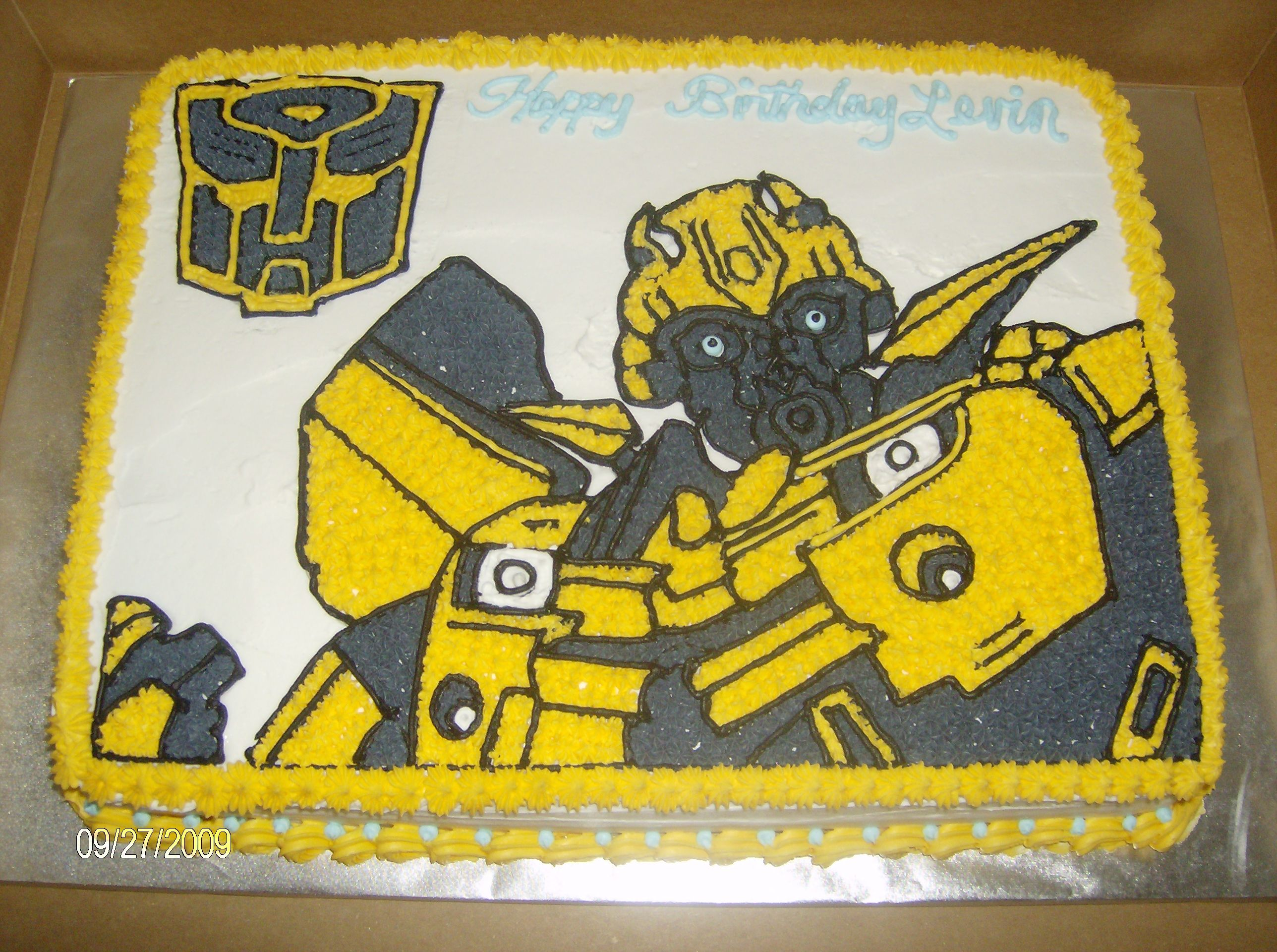 Bumblebee Transformers Cake Cakepins