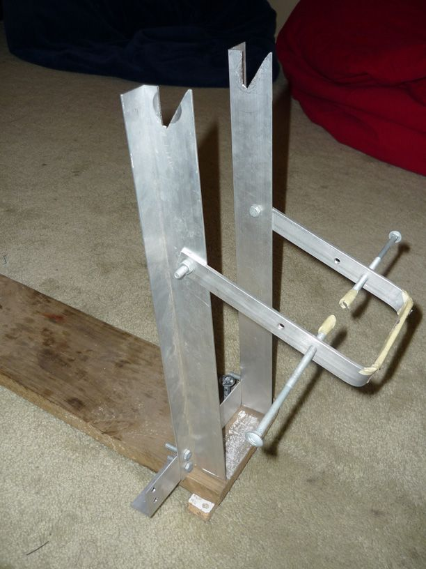 A Simple Diy Wheel Truing Stand Bike Repair Stand Bicycle