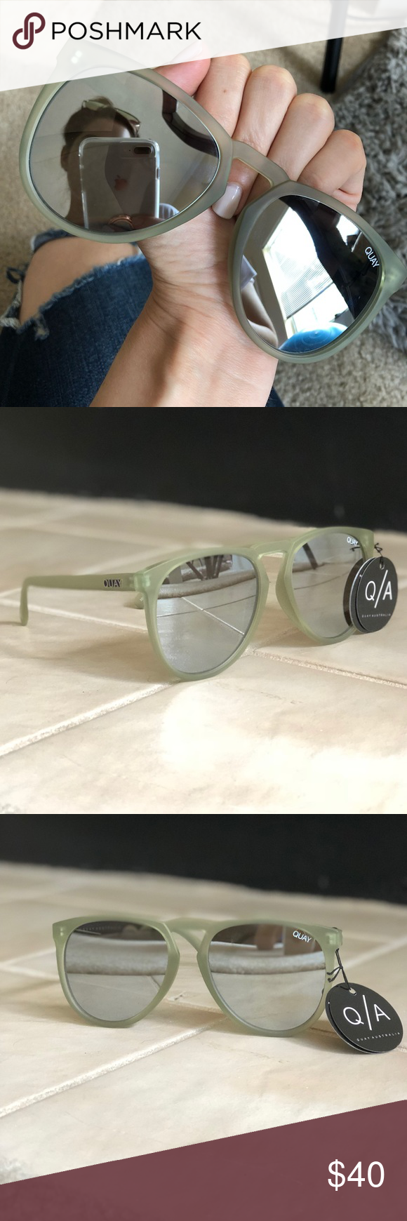 a69036719c Quay PHD Olive Mirror Sunglasses New with tag Quay Glasses