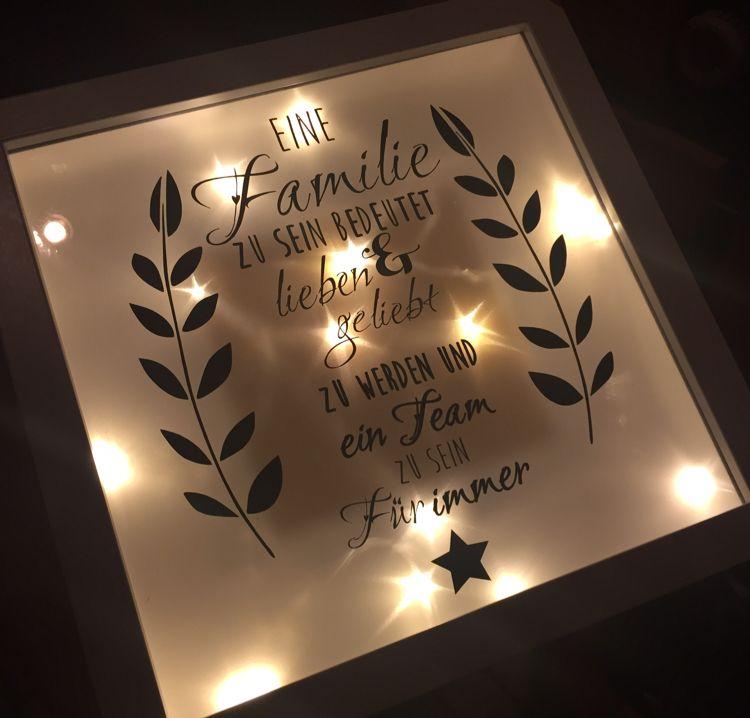 ribba rahmen zum geburtstag mit sterneneffektfolie und lichterkette crafts rahmen. Black Bedroom Furniture Sets. Home Design Ideas