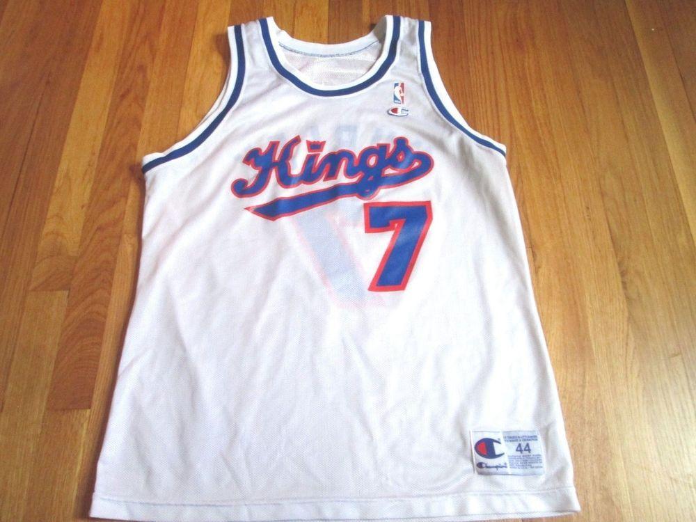 f143a1515 Vintage 90 s Champion NBA Sacramento Kings Bobby Hurley Jersey Size ...