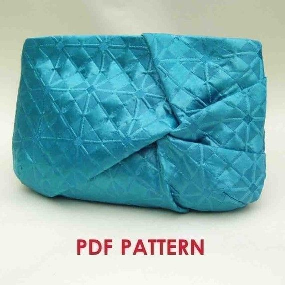 Convertible Twist Clutch Purse - PDF Sewing Pattern + How to Sew an Invisible Zipper and Use