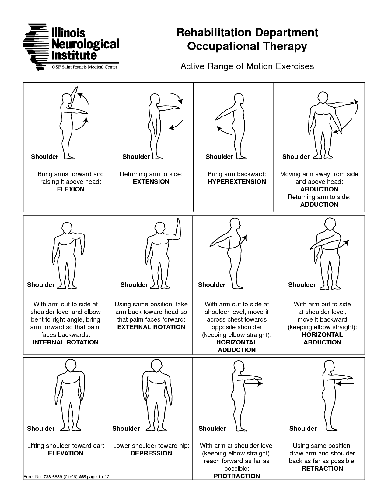 shoulder joint movement - Google Search | exercise | Pinterest ...