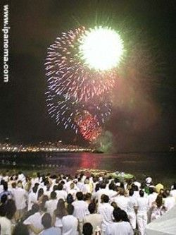 ef8d479fe3137 Rio de Janeiro, Brazil on New Years Eve. (White clothes party on the beach)