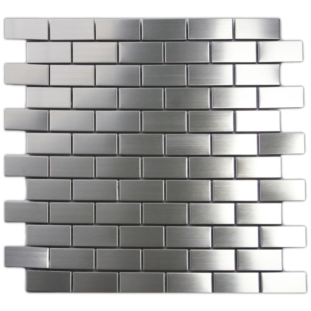 Stainless Steel Mosaic Tile 1x2 Subway Outlet Like For Behind Cooktop Area See